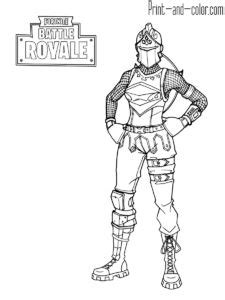 fortnite battle royale coloring page red knight female