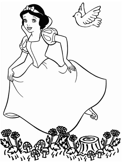 printable snow white princess coloring pages
