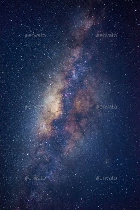 The Milky Way Galaxy Night Sky Stock Photo Lkunl