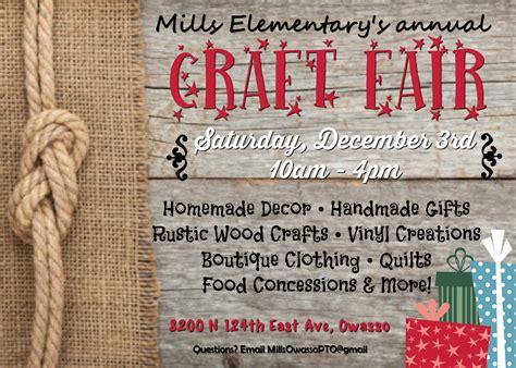 craft  vendor fair   held december   mills