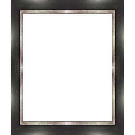 cadre photo noir bord argent largeur de 3 2 cm cadre tout format encadrement bois noir bord
