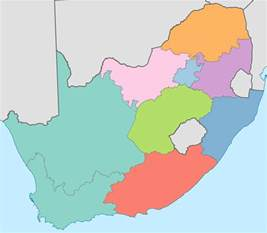 South Africa Provinces Map