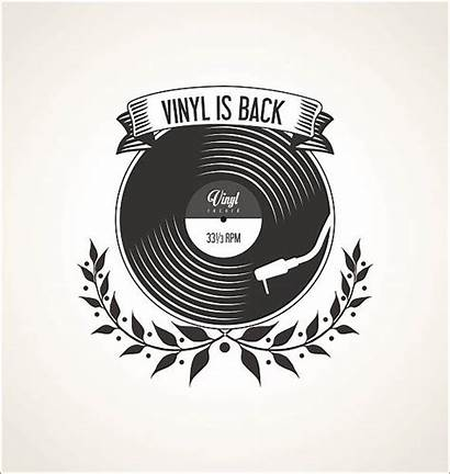 Vector Vinyl Record Retro Banner Records Turntable