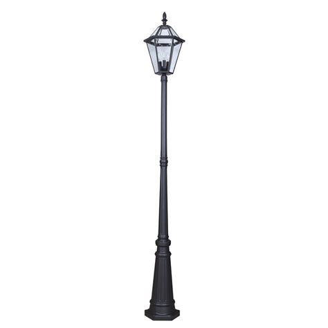 Light Post outdoor black fixture post light l garden yard driveway