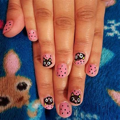 Nail Short Nails Cat French Tip Different