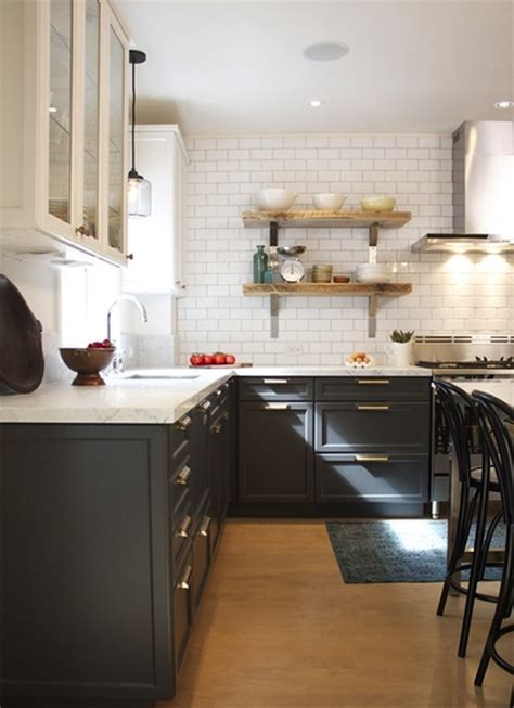 Charcoal Gray Cabinets   Vintage   kitchen   House & Home