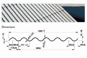 Plaque Ondulée Pour Toiture : dimension tole ondul e toiture rev tements modernes du toit ~ Premium-room.com Idées de Décoration
