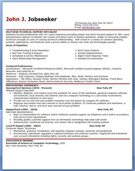 Help Resumes For Free by It Help Desk Support Resume Sle Creative Resume