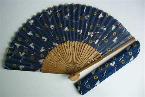 how to make a hand fan with fabric hand fan bamboo and fabric vintage japanese sensu by
