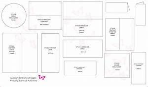 Place cards sizes layouts bespoke wedding stationery for Place card size template