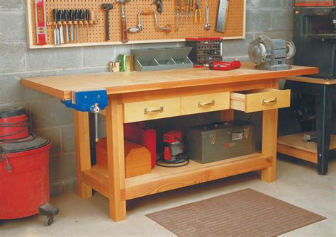 weekend workbench woodworking project woodsmith plans
