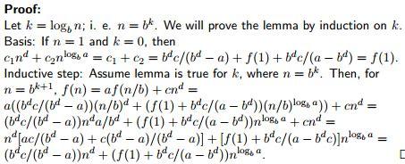 discrete mathematics proving recurrence relations