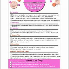 Free Sweet 16 Party Checklist  Sweet 16 Party Store