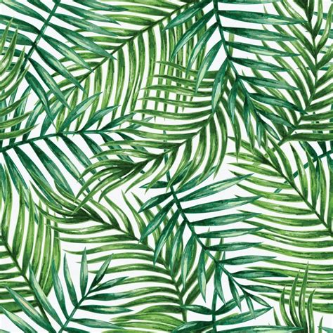 rustic modern chic living room watercolor tropical palm leaves seamless pattern vector