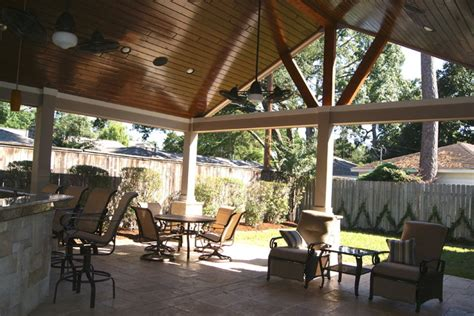 rustic patio covers decor patio cover in houston rustic patio houston by