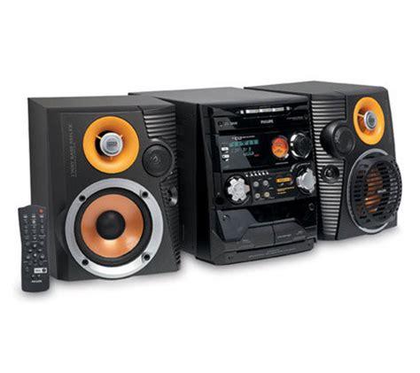 philips fwc527 240 watt 3 cd mini hifi system qvc