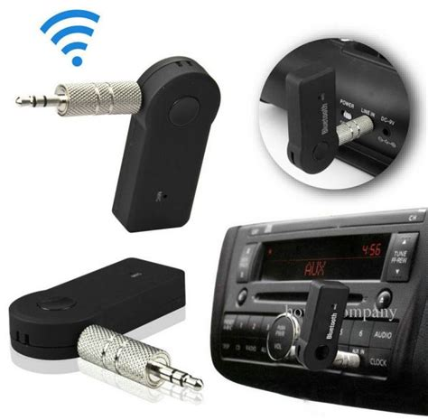 wireless car bluetooth receiver adapter mm aux audio stereo  home hands  souq uae