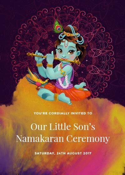 bal krishna namakaran invitation invites
