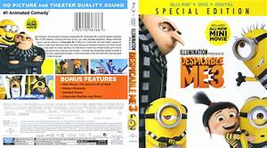 Despicable Me 3 (2017) R1 Blu-Ray Cover & Labels ...