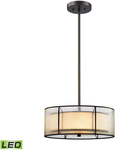 led drop ceiling lights elk 70225 3 led mirage tiffany bronze led drum drop