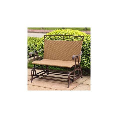 resin wicker steel patio glider chair 4102 dbl