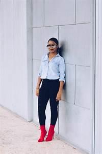 Denim Shirt and Black Jeans | Venti Fashion