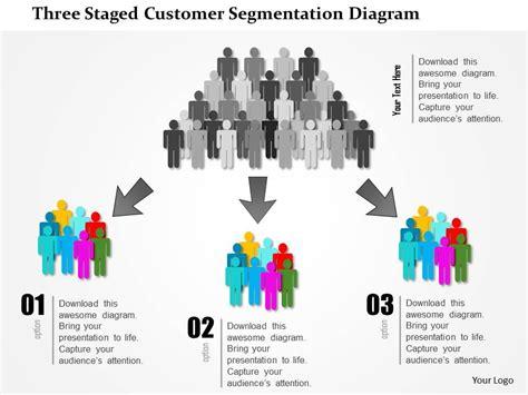 staged customer segmentation diagram powerpoint