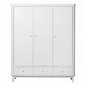Armoire 3 Portes Wood Blanc Oliver Furniture Pour