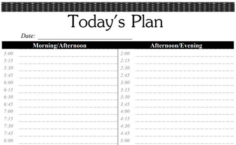 time blocking  printable planners