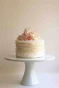 Single Layer Wedding Cakes - Wedding and Bridal Inspiration