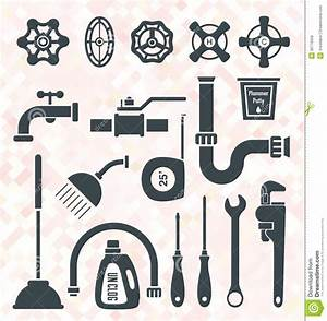 Vector Set: Plumbing Icons And Symbols Royalty Free Stock ...
