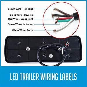 2x Led Tail Reverse Brake Lights 10m 5 Core Wire Cable