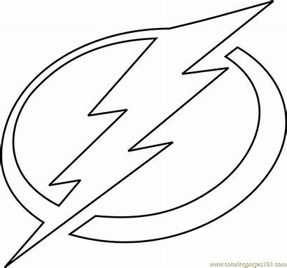 Tampa Bay Lightning Coloring Pages Nhl Template