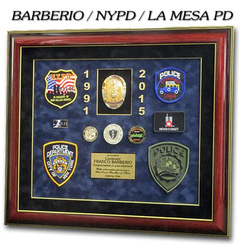 nypd projects  badge frame
