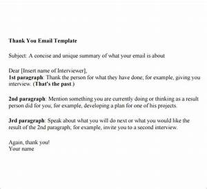 Thank You Email Template  6 Free Download for PDF