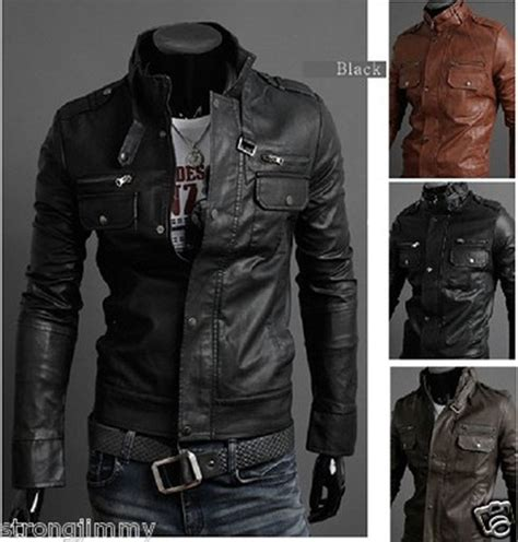 leather apparel new 2017 multi zipper men 39 s motorcycle pu leather collar