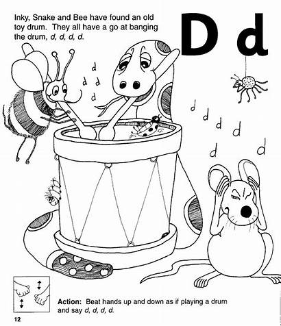 Phonics Jolly Letter Coloring Worksheets Kindergarten Physical