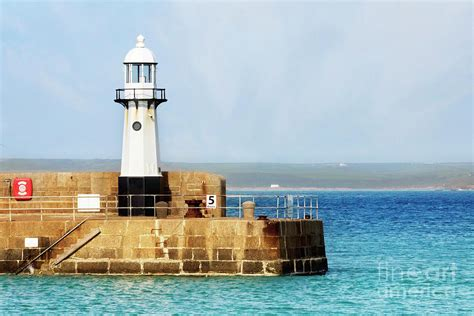 St Ives New Lighthouse Photograph by Terri Waters