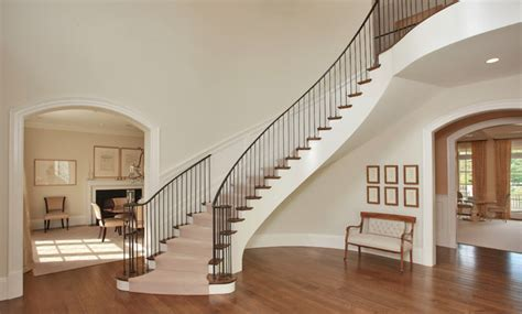 Chic Dramatic Foyer   Transitional   Staircase   other