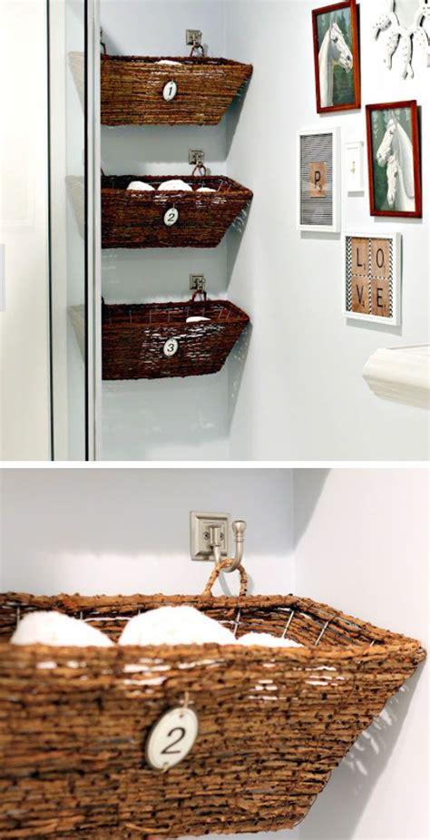 diy bathroom storage ideas hacks apartment small