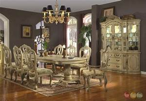 whitehall formal dining double pedestal table With white formal dining room sets