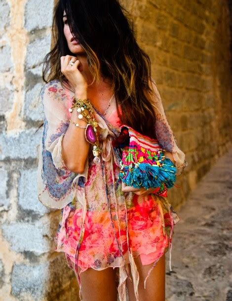 Dress Boho, Handbag, Beachwear, Bright Color Wheretoget