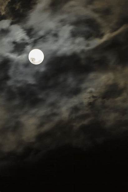 Moon Animated Night Gifs Clouds Cloud Supermoon