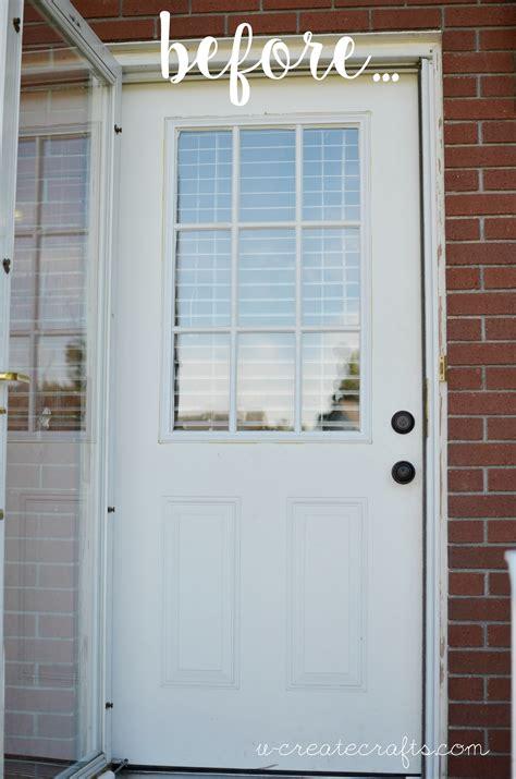 Door Makeover by Yellow Front Door Makeover U Create