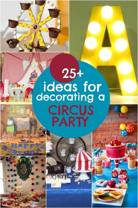 circus birthday party decorations spaceships