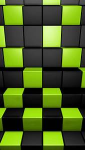 3D Green and Dark Cubes iPhone 6 / 6 Plus and iPhone 5/4 ...