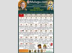 Atlanta Telugu Calendar 2018 April Mulugu Calendars