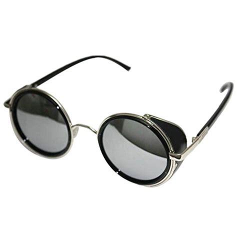 metal square glasses frame vintage 50s steunk mirror lens glasses sun
