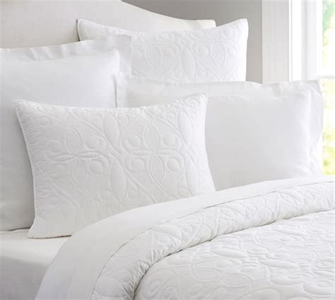 washed cotton quilt sham pottery barn