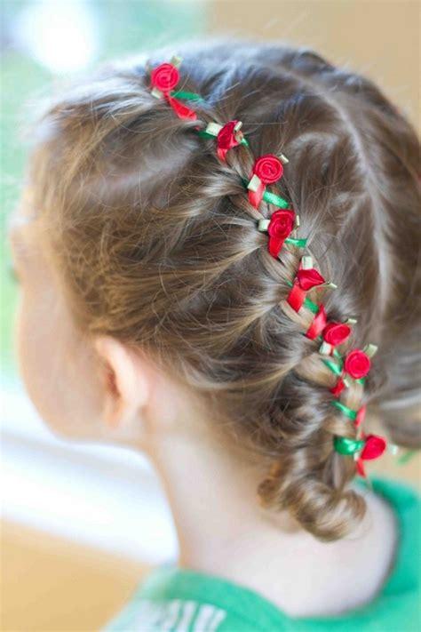 cute christmas hairstyles   girls charming